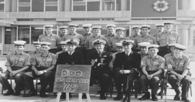Dido Operations Room Team 1969 at HMS Dryad